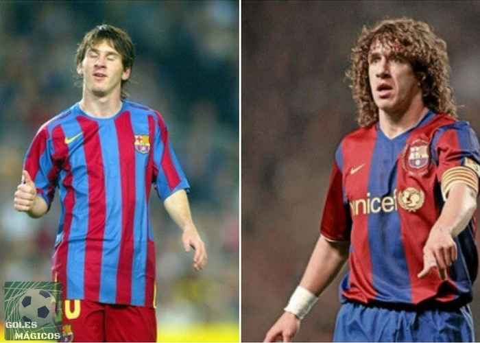 Puyol y Messi