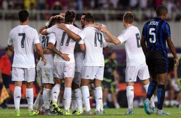 Real Madrid Inter celebración goles International Champions Cup