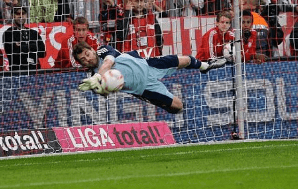 Casillas doble parada Bayern