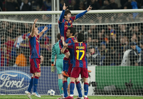 Messi celebra gol Arsenal