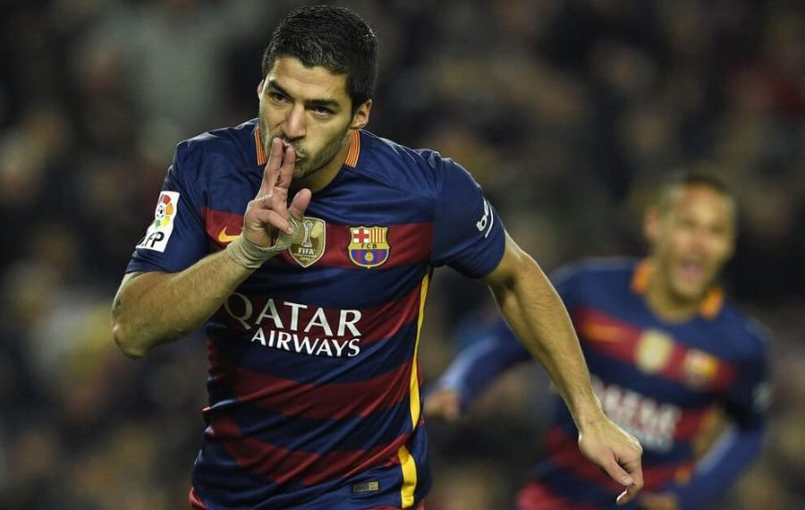 Suarez hat trick pichichi Barcelona